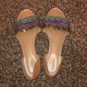 Merona Jeweled Decorative Sandals Flats